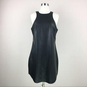 NWT Express Faux Black Leather Mini Dress Size 12